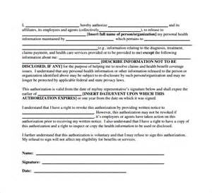 privacy release form template sle hipaa release form 7 free documents in