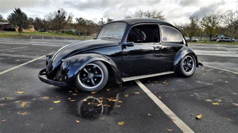 volkswagen beetle modified black 1965 vw beetle bug custom race inspired classic