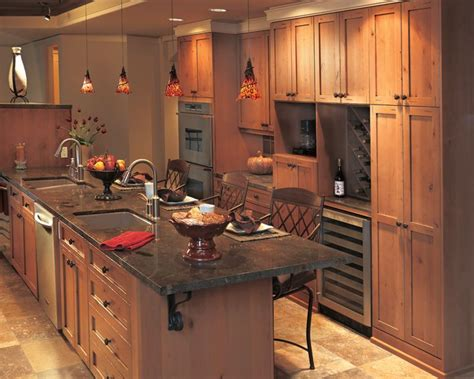rustic alder kitchen cabinets alderwood kitchen cabinets with a light stain millennia