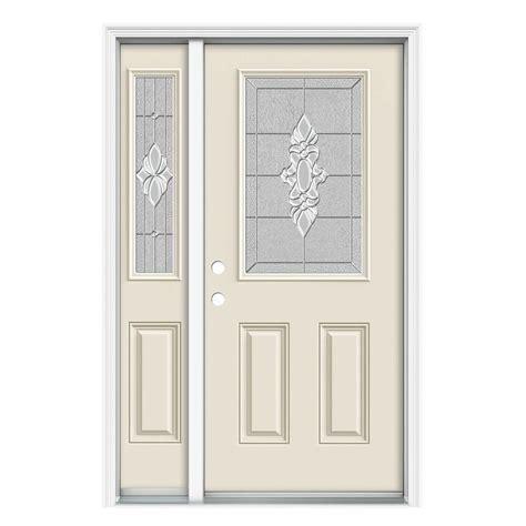 12 Lite Exterior Door Jeld Wen Langford Half Lite Primed Steel Entry Door With 12 In Side Lites H30849 On Popscreen