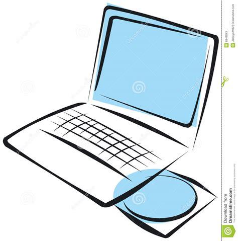 Laptop illustration stock vector. Image of multimedia
