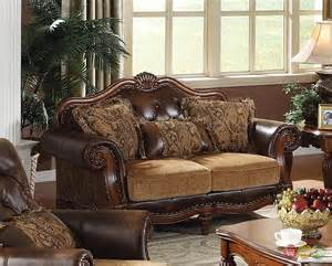 Living Room Sets From Dreena Traditional Formal Living Room Set Carved Cherry