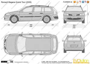 Renault Megane 2 Dimensions The Blueprints Vector Drawing Renault Megane Grand