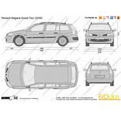 The Blueprintscom  Vector Drawing Renault Megane Grand Tour