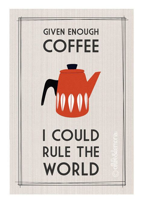 Poster 126 Coffee retro coffee quote poster by from oflifeandlemons on etsy