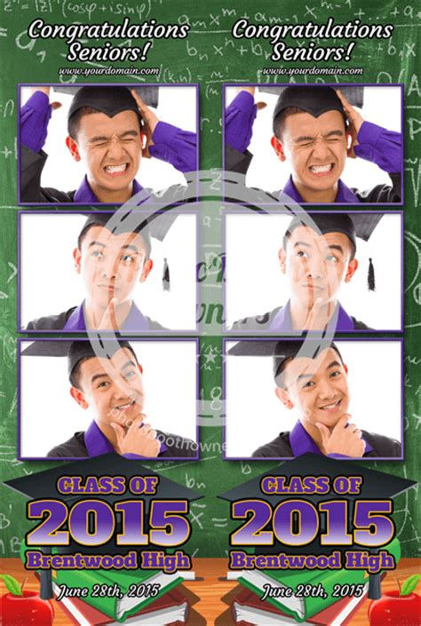 graduation photo booth layout graduation party 3 up strips photo booth template