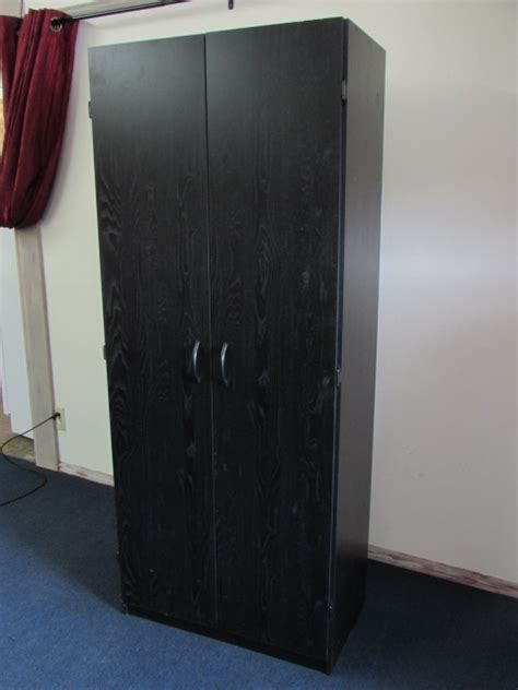 Large Wardrobe With Shelves Lot Detail Large Two Door Storage Cupboard Wardrobe With