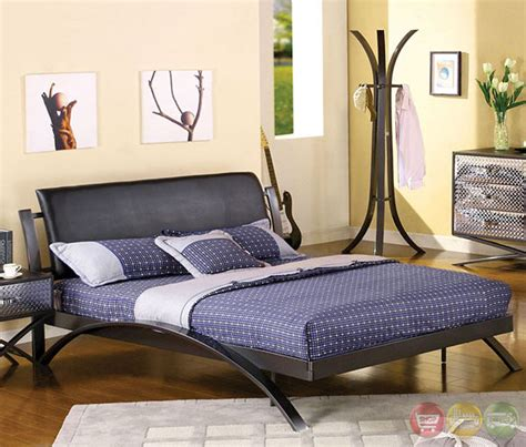 metal bedroom sets metro contemporary gun metal youth bedroom set with padded
