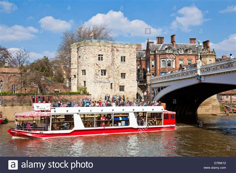 boat cruise york uk york river boat cruise on the river ouse going under