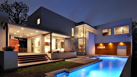 wallpaper house mansion pool modern interior high tech yard architecture