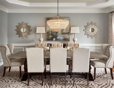 Decorating Formal Dining Room by 59020 Mirror In Dining Room Dining Room Transitional