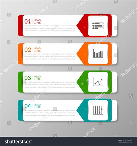 add website text box to business card template in word banners template colorful tabs design illustration vector