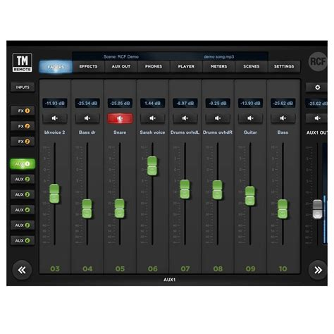 Mixer Di mixer digitale di rcf m18 a gear4music