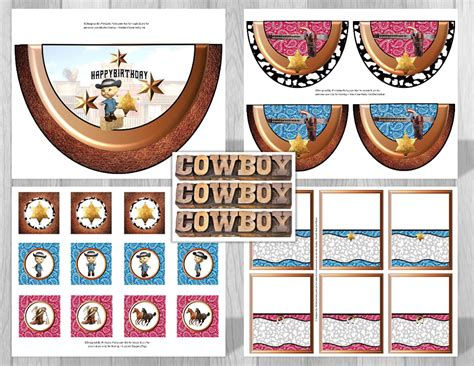 printable cowboy party decorations cowboy western theme party decorations