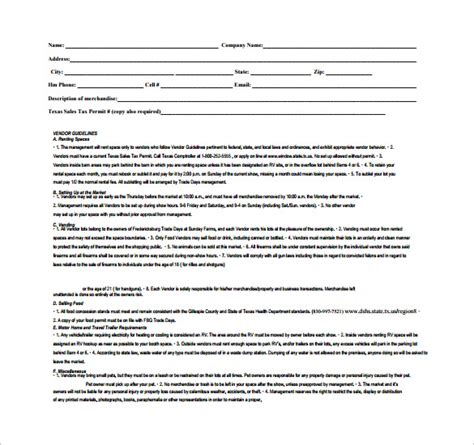 vendor agreement template contract vendor contract template 9 free documents in