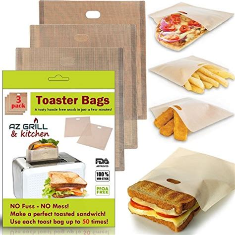 Cheese Bags America S Test Kitchen by Toaster Bags Set Of 3 Non Stick Teflon Reusable