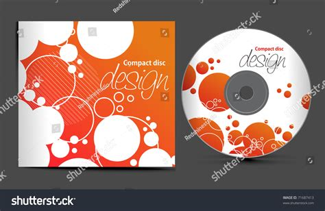 Vector Cd Cover Design Template With Copy Space Vector Illustration 71687413 Shutterstock Cd Design Template
