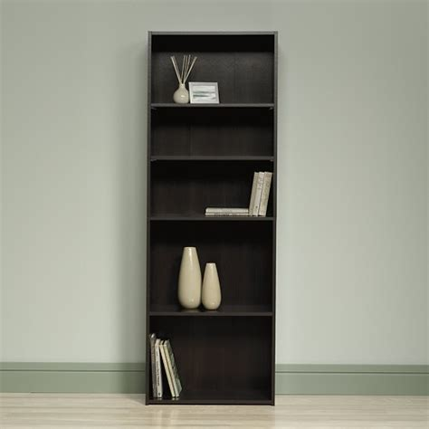 sauder beginnings 5 shelf bookcase sauder beginnings collection 5 shelf bookcase brown 409090
