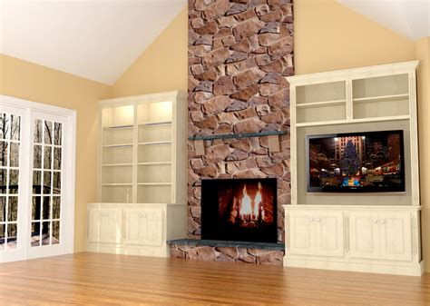 Built In Wall Units With Fireplace by Fireplace Wall Built Ins W Led Tv Nick Miller Design