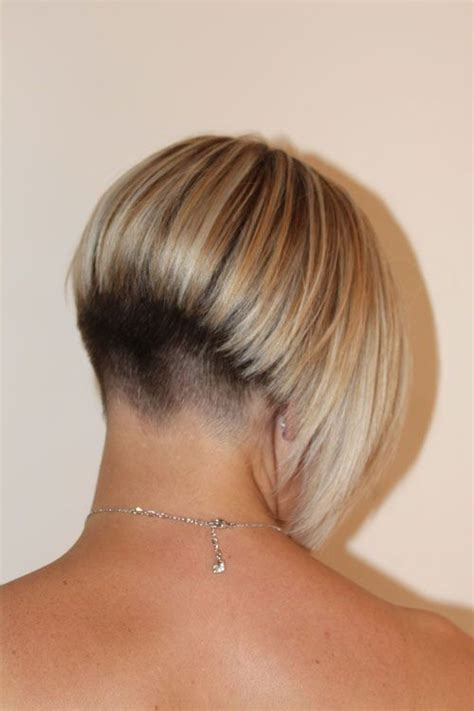 short hair with longer underlayers 17 best images about short hair back view on pinterest