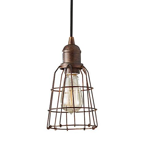 Caged Pendant Light Wire Cage Pendant Light Lightandwiregallery