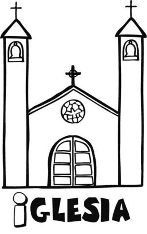 imagenes de iglesias catolicas para colorear dibujo infantil de una iglesia para pintar