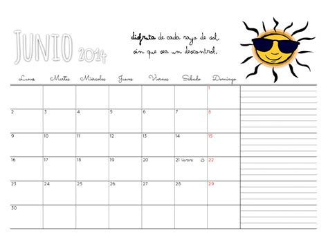Calendario Año 2016 Y 2017 Marthibis Calendario Descargable Junio 14