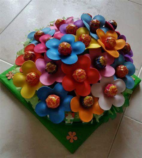 torte di fiori torta di fiori chupachups e barrette kinder feste