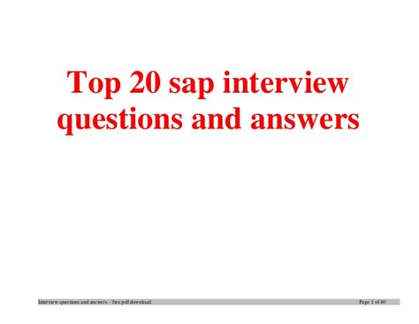 top sap questions and answers tips