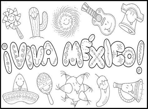imagenes q esten en negro independencia de mexico para colorear