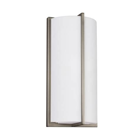 Ada Wall Sconce Sea Gull Lighting Ada Wall Sconces Brushed Nickel Wall Sconce 4934091s 962 The Home Depot