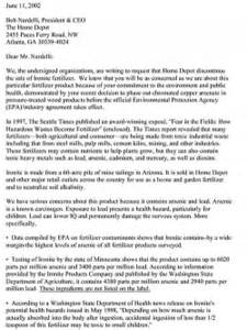 home depot letters earthworks letter to home depot about ironite fertilizer
