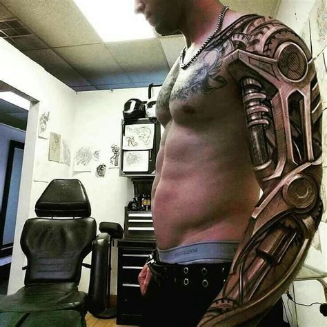 robot sleeve tattoo designs best 25 mechanical arm ideas on