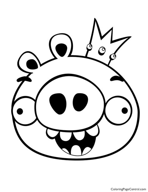 coloring pages of angry birds pigs angry birds king pig 01 coloring page coloring page