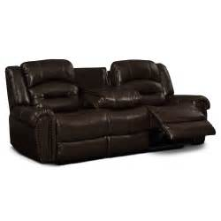 Dual Reclining Leather Sofa by Galveston Leather Dual Reclining Sofa Value City Furniture