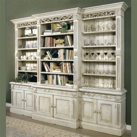 carved grand bookcase unit dish pantry