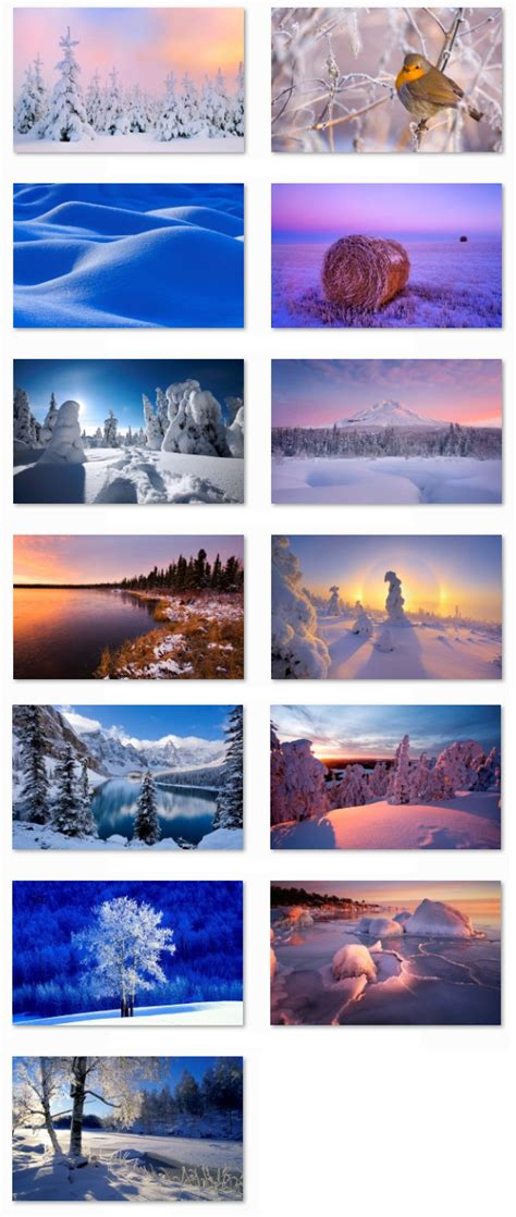 microsoft themes winter desktop fun best winter windows 7 themes collection