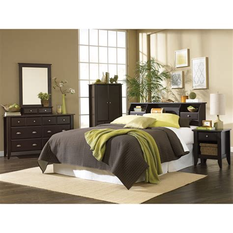 bedroom sets at walmart sauder shoal creek 4 piece bedroom set jamocha walmart com