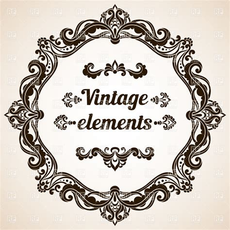 design frame html round retro frame design elements and text royalty free