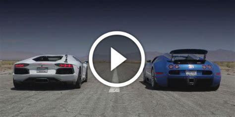 Bugatti Veyron Vs Lamborghini Aventador Drag Race Bugatti Veyron Vs Lamborghini Aventador Vs