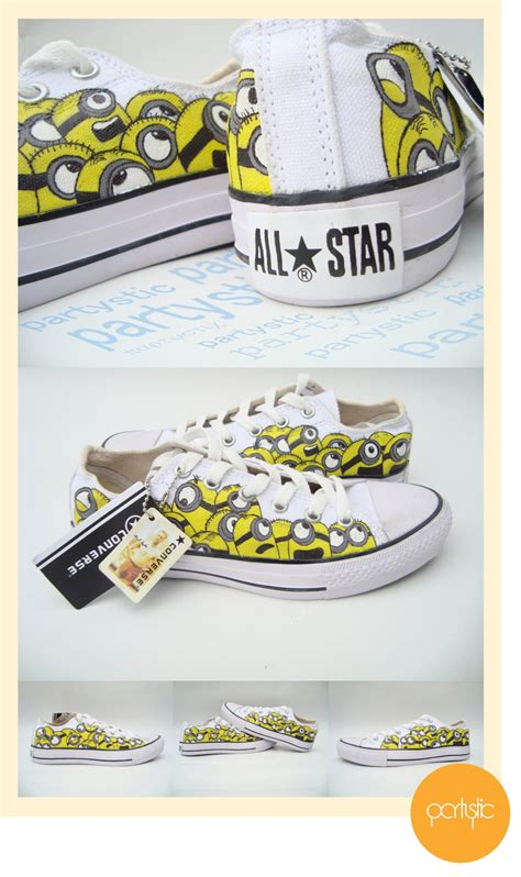 Sepatu Minion 7 minion painted shoes on low converse by partystic on deviantart