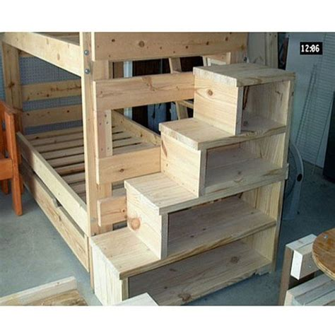 solid wood custom made stairs for queen size bunk or loft
