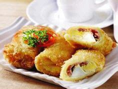 Black Risoles Smoked Beef With Cheese beef cheese and smoked beef on