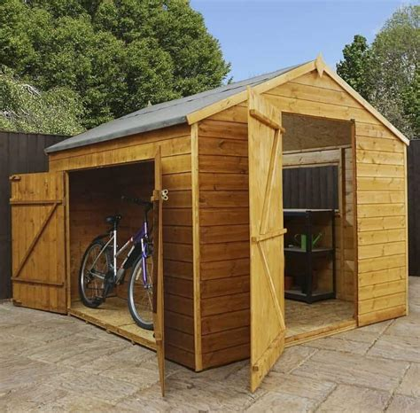 waltons tongue  groove wooden multi store garden shed