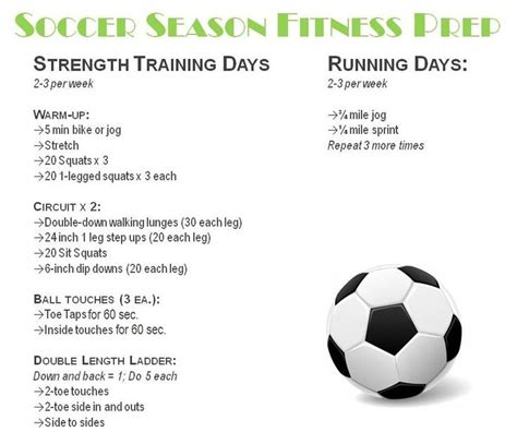 6 week youth pre season workout books 25 best ideas about soccer workouts on weekly