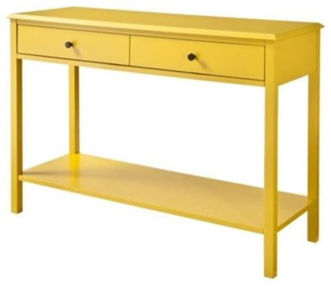 threshold windham console table with shelf yellow