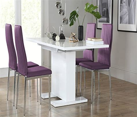 High Dining Room Table Chairs Uk Stock High Gloss Dining Room Table Chair Set With 4 6