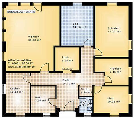 terrasse qm wohnfläche grundriss bungalow 128 qm wohnfl 195 194 164 che plus 6 qm lichthof