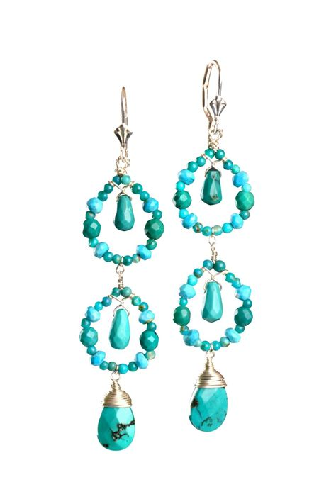 Turquoise Chandelier Earrings Harmony Jewelry Design Turquoise Chandelier Earrings