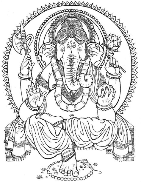 buddha elephant coloring coloring pages